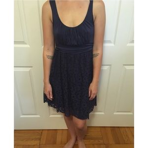 Delia's Ruched Dress With Floral Lace